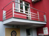Balustrady nierdzewne, zabezpieczenia okienne, balkony francuskie z chromoniklu - Rzeszów